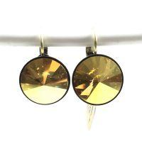Konplott Rivoli metallic sunshine Ohrhänger groß mit Klappverschluss #5450543316666