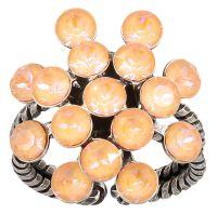 Magic Fireball Ring in apricot de glace crystal peach de lite