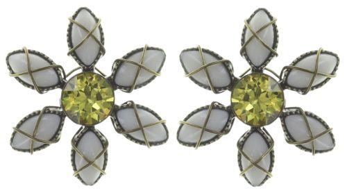 Konplott Psychodahlia Ohrring in gelb Messing #5450543734071