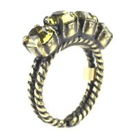 Konplott Colour Snake Ring in Khaki, hellgrün