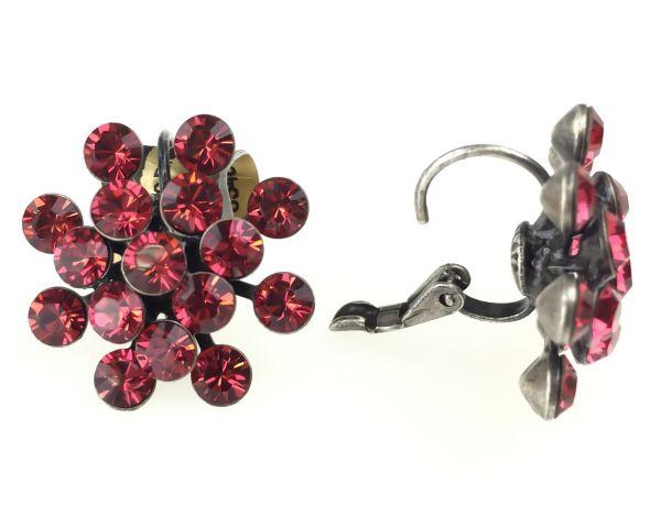 Konplott Magic Fireball Ohrhänger mit Klappverschluss in indian pink, rot/pink #5450527767293