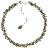 Inside Out steinbesetzte Halskette in gelb