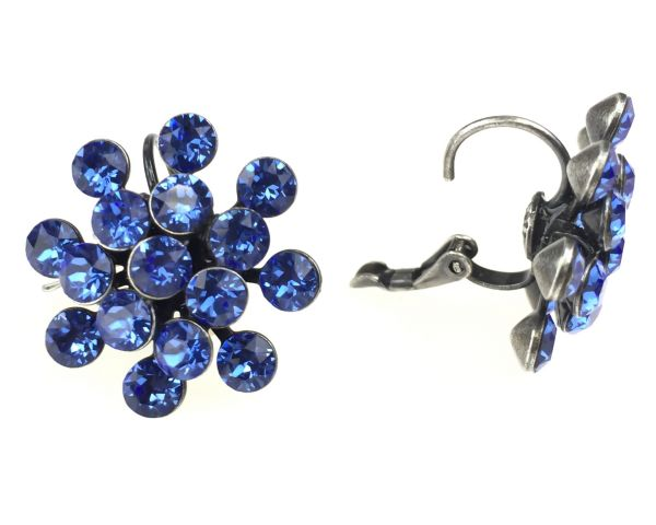 Konplott Magic Fireball Ohrhänger mit Klappverschluss in sapphire #5450527611718
