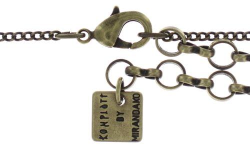 Konplott Inside Out Halskette mit Anhänger Größe S in braun #5450543638522