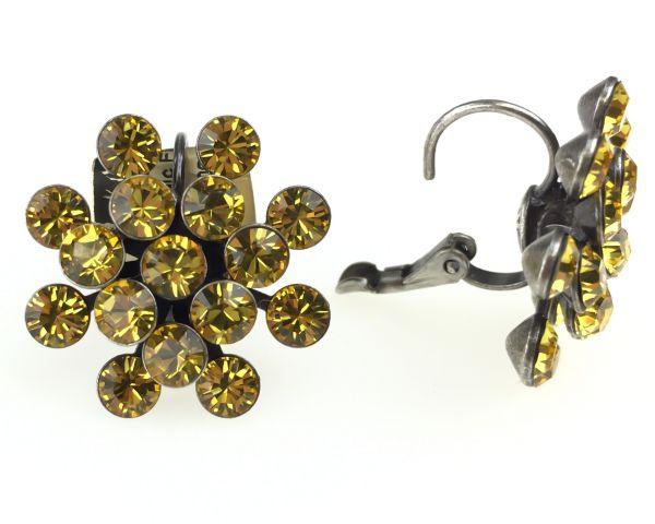 Konplott Magic Fireball Ohrhänger mit Klappverschluss in light topaz, gelb #5450527640626