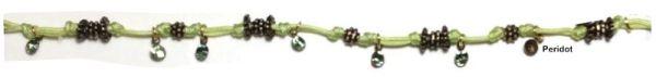 Konplott Festival Anklet Fußkette grün Messing #5450543746913