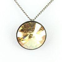 Konplott Rivoli crystal golden shadow Halskette mit Anhänger