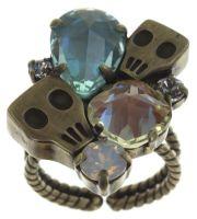 Konplott Pirates in Paris Ring silber, kristall, Totenkopf #5450543667232