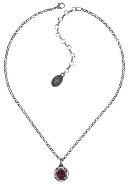 Konplott Medieval Pop Halskette mit Anhänger S Stein dunkelrosa #5450543635224
