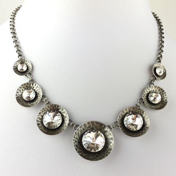 Konplott Rivoli Concave white crystal Halskette steinbesetzt #5450543334851