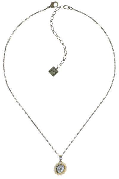 Kaleidoscope Illusion Halskette mit Anhänger in weiß