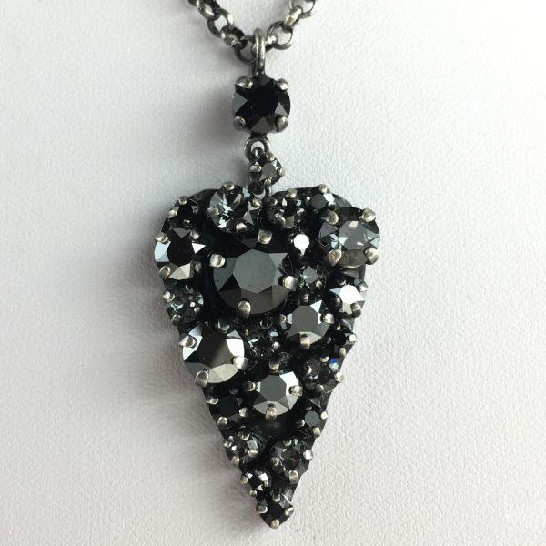 Konplott You Missed It schwarze Halskette mit Anhänger Herz #5450543496887