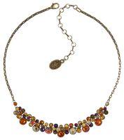 Konplott Water Cascade steinbesetzte Halskette in braun/orange