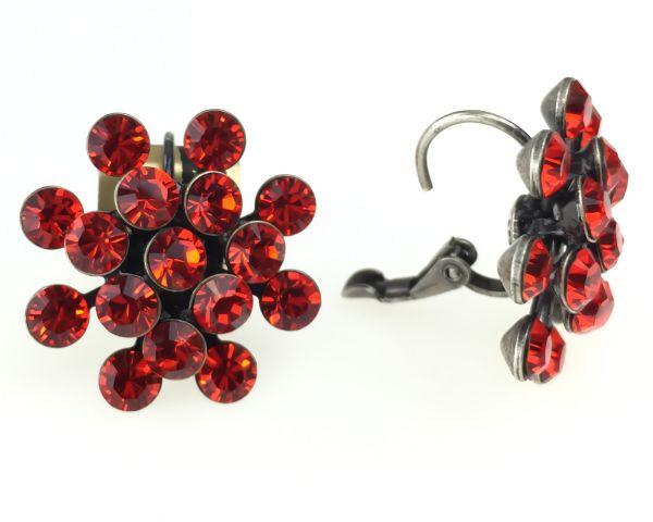 Konplott Magic Fireball Ohrhänger mit Klappverschluss in hyacinth, rot/orange #5450527640381