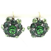 Bended Lights Ohrhänger mit Klappverschluss in Grün