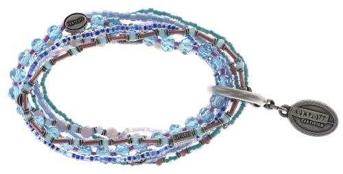 Konplott Petit Glamour d'Afrique Armband in blau/lila #5450543722368