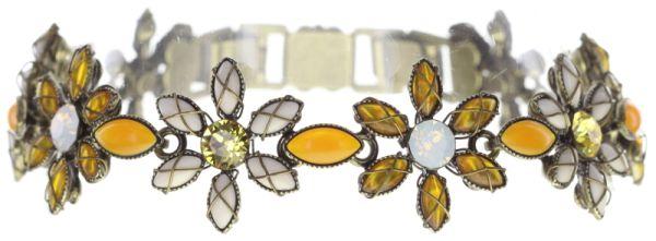 Konplott Psychodahlia Armband in gelb Messing #5450543730967