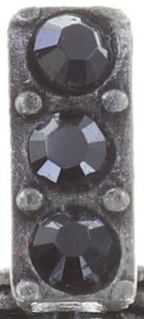Konplott Rosone Ohrstecker hängend Größe XS in schwarz #5450543654461