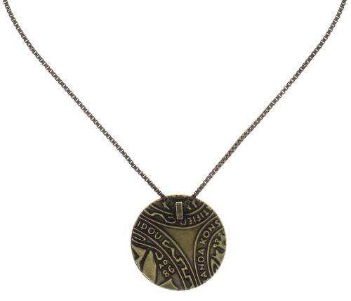 Konplott Studio 54 Halskette mit Anhänger in gold gelb Messing #5450543749129