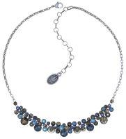 Konplott Water Cascade steinbesetzte Halskette in blau/braun