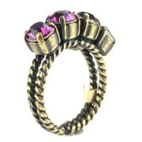 Konplott Colour Snake Ring in Amethyst, pink/lila