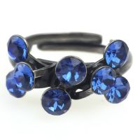 Magic Fireball 8 Stein Ring in sapphire, blau
