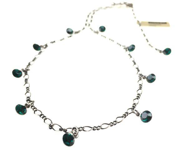 Konplott Tutui emerald Halskette steinbesetzt #5450527641173