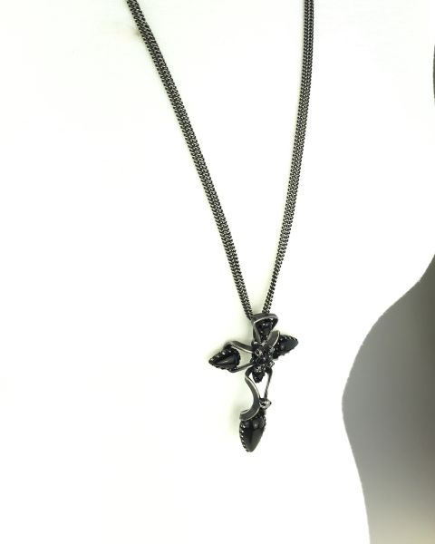 Konplott Dracula schwarze Halskette mit Anhänger lang NUR NOCH KURZE ZEIT VERFÜGBAR #5450543609232