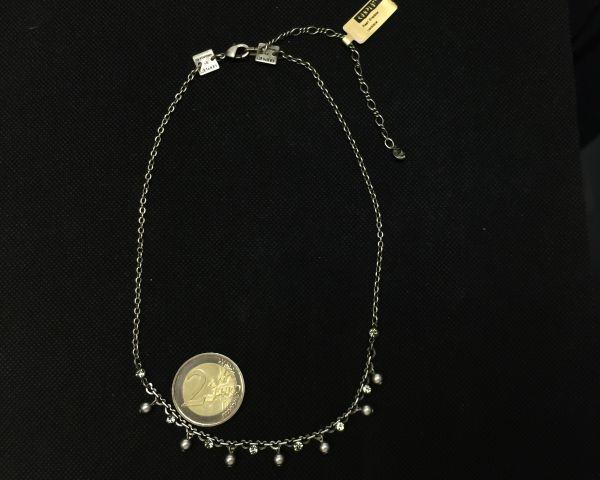 Konplott Pearl Shadow black diamond Halskette partiell steinbesetzt #5450527598835