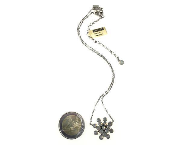 Konplott Magic Fireball Halskette mit Anhänger in light grey opal #5450527767354