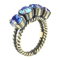 Colour Snake Ring in Sapphire, blau