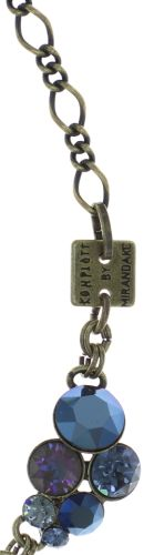 Konplott Petit Glamour steinbesetzte Halskette in dunkelblau #5450543760049