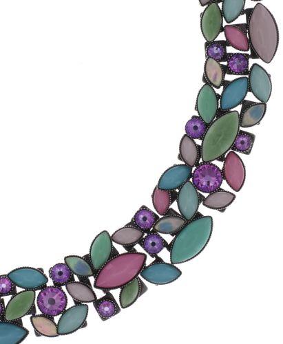 Konplott Dance with Navette Halskette steinbesetzt in pastel multi Silberfarben #5450543705965