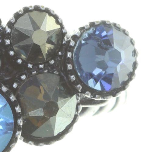 Konplott Water Cascade Ring in blau/braun #5450543753935