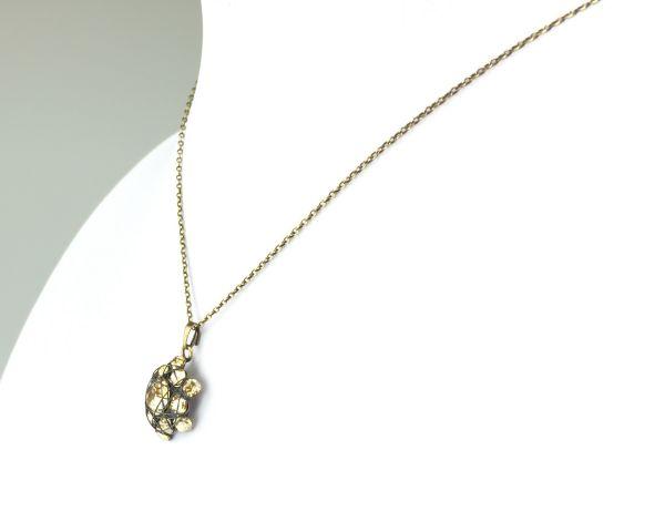 Konplott Bended Lights Halskette mit Anhänger in Braun #5450527729703