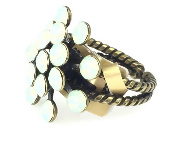 Konplott Magic Fireball chrysolite grün opal 16 Stein Ring #5450543133690