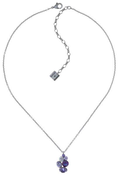 Konplott Petit Glamour Halskette mit Anhänger in lila #5450543760131