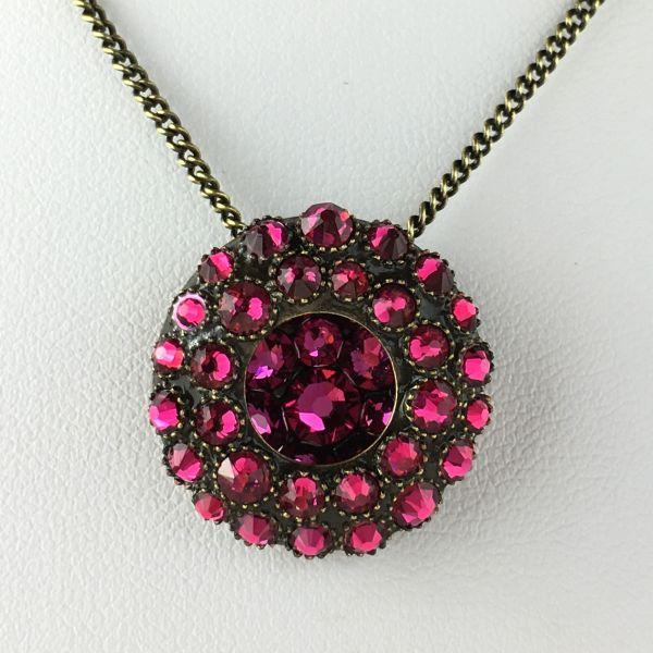 Konplott Inside Out pinke Halskette mit Anhänger #5450543610306