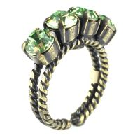 Colour Snake Ring in Peridot