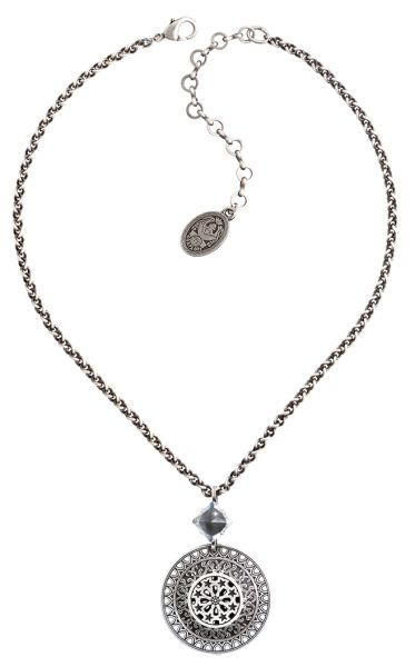 Konplott Ice Rosone Halskette weiß #5450543667768
