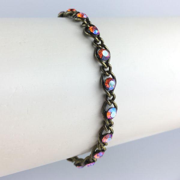 Konplott Magic Fireball braun/orangenes Armband verschließbar #5450543631370
