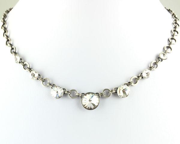 Rivoli crystal weiße Halskette partiell steinbesetzt