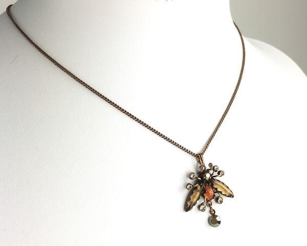 Konplott Flower Zumzum braune Halskette mit Anhänger #5450543621449