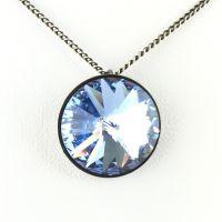 Konplott Rivoli light sapphire Halskette mit Anhänger
