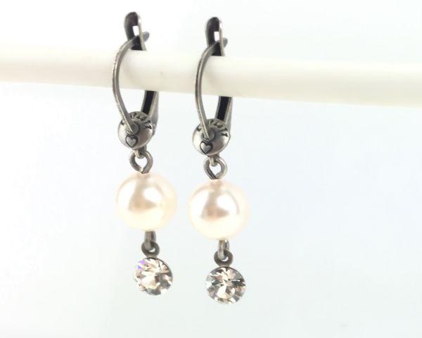 Konplott Pearl Shadow crystal Ohrhänger mit längl. Verschluss #5450527444538