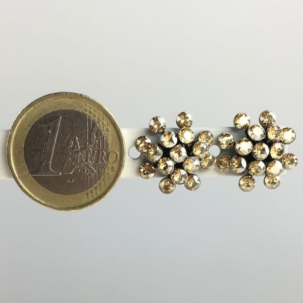 Konplott Magic Fireball beige crystal golden shadow Ohrstecker klassisch mini #5450543656311
