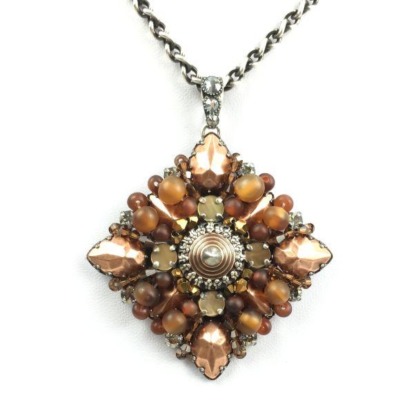 Konplott Earth, Wind & Glamour braune Halskette mit Anhänger #5450543310893