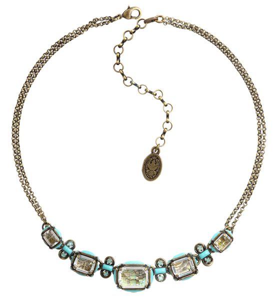 Konplott Color on the Rocks grüne Halskette steinbesetzt #5450543644646