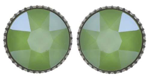 Konplott Black Jack Ohrstecker klassisch groß in grün crystal lime #5450543723877