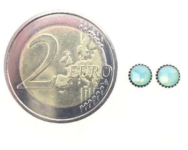 Konplott Black Jack Ohrstecker klassisch rund klein in green pacific opal #5450527797146